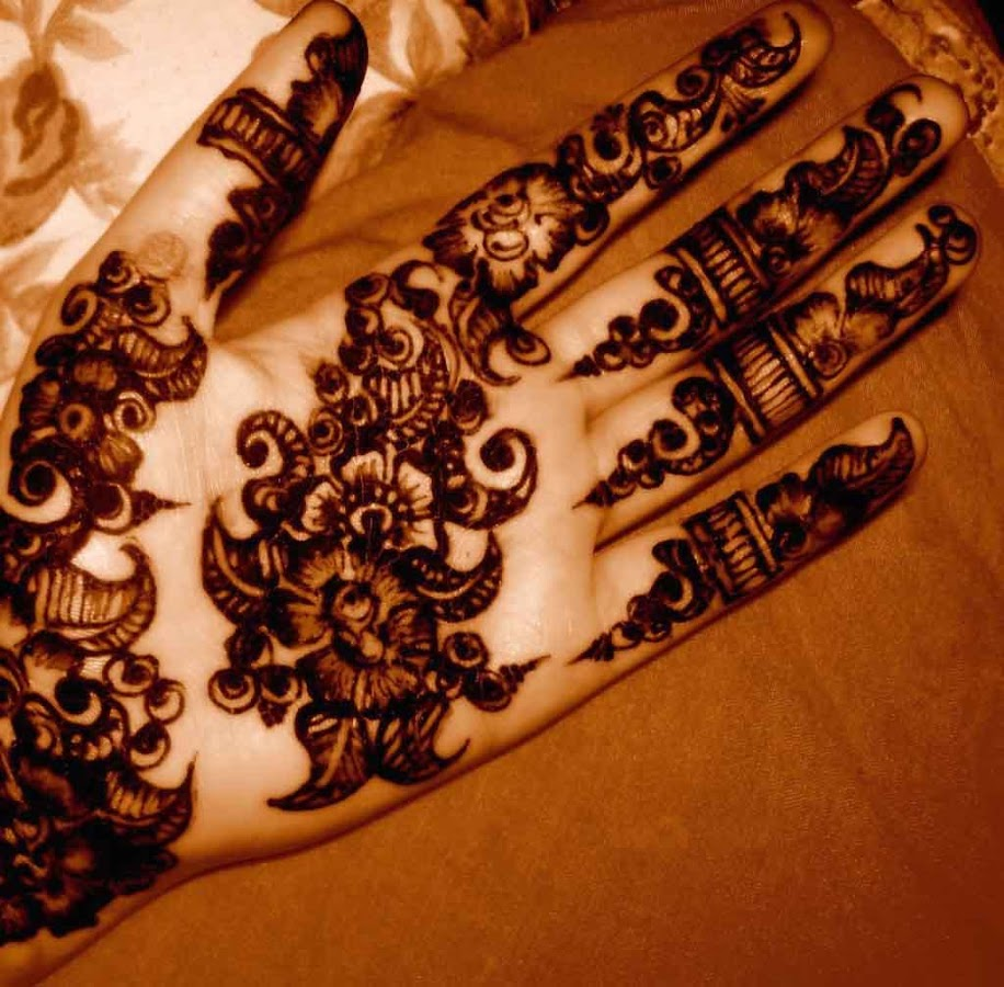 Black henna hand for Black temporary tattoo