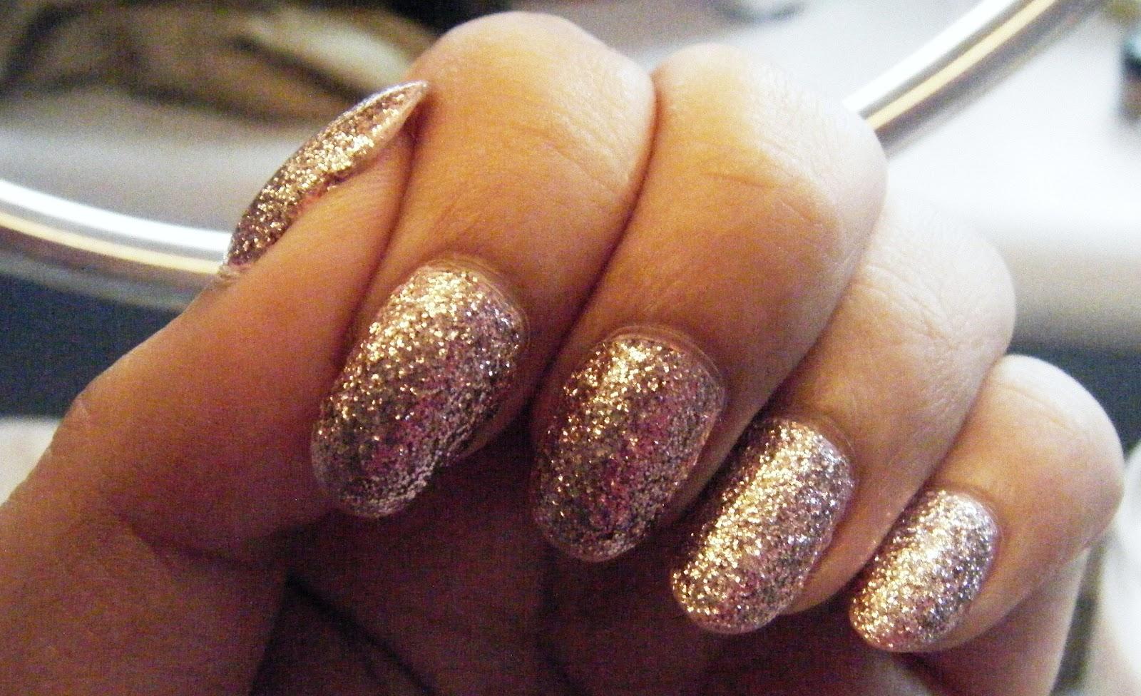 Enchanting Rose Gold False Nails Composition - Nail Art Ideas ...